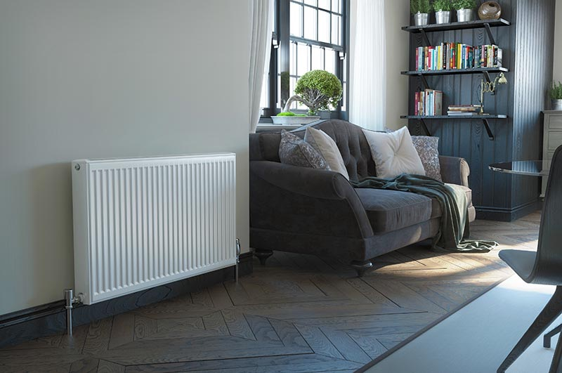 Radiators for air source heat pumps Cornwall